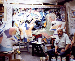 Rudy Autio in his Missoula Studio